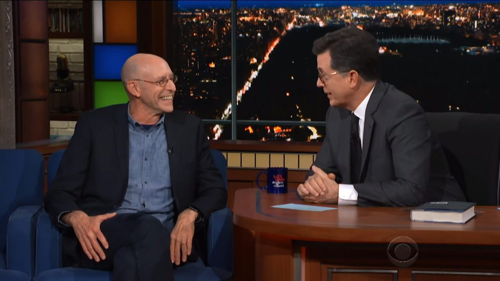 Michael Pollan and Stephen Colbert