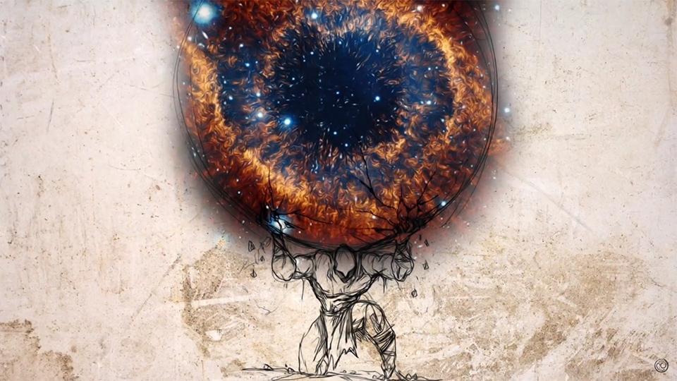 Atlas Globe Nebula Eye